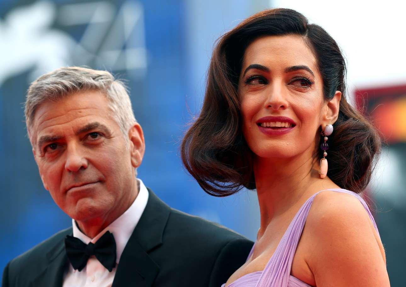 Ο Κλούνεϊ στα 56 του, η Αμάλ στα 39 της, είναι τα πρόσωπα του 74ου Φεστιβάλ της Βενετίας
