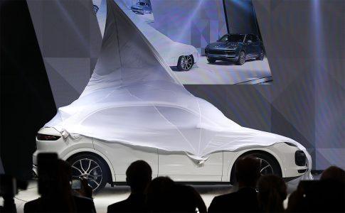 The new Porsche Cayenne car is presented during the Frankfurt Motor Show (IAA) in Frankfurt, Germany September 12, 2017. REUTERS/Kai Pfaffenbach