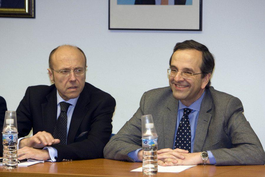 Αντώνης Σαμαράς και Δημήτρης Βαρτζόπουλος. Ο δεύτερος ανέλαβε Γενικός Γραμματέας Συντονισμού αλλά ήταν μάταιο... / ΑΠΕ-ΜΠΕ