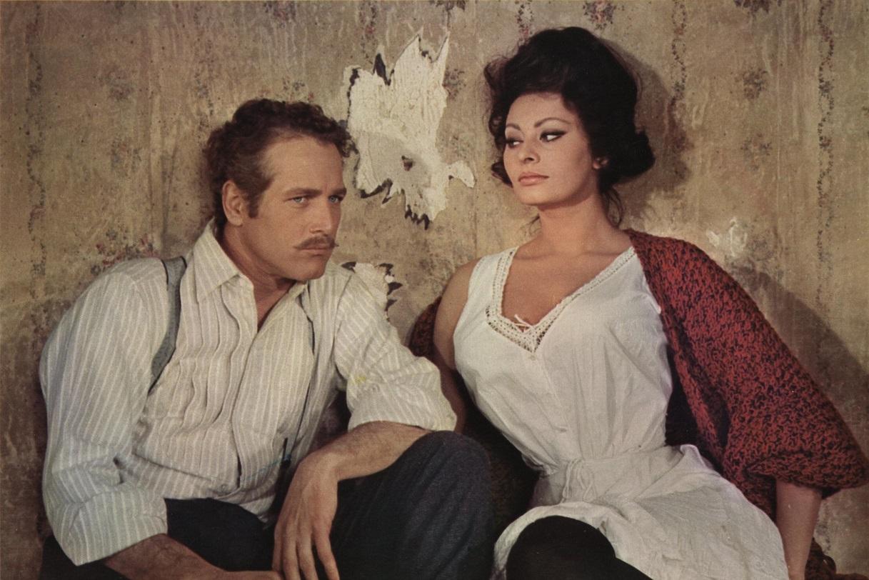 Με τον Πολ Νιούμαν στο «Lady L» (1965) σε σκηνοθεσία Πίτερ Ουστίνοφ