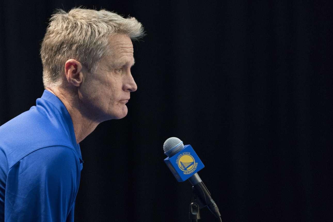 Στιβ Κερ, προπονητής των πρωταθλητών Golden State Warriors (φωτό: Kyle Terada-USA TODAY Sports/ REUTERS)
