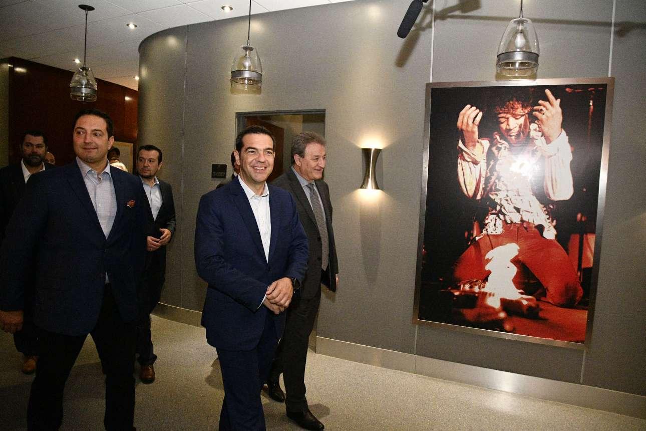 Ο Αλέξης Τσίπρας στα Cinespace Studios του ομογενή Αλεξ Πίσσιος
