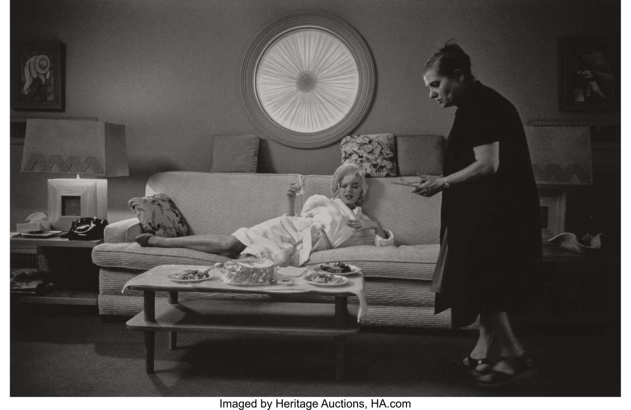 Μαζί με την Πόλα Στράσμπεργκ, την έμπιστη σύμβουλο υποκριτικής της