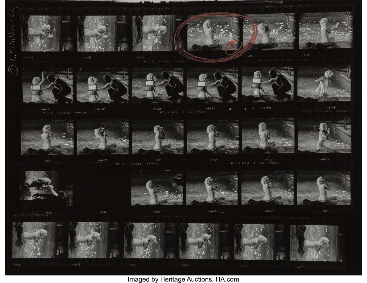 Το φιλμ με τις γυμνές λήψεις της Μονρόε, το οποίο τραβήχτηκε τρεις μήνες πριν από τον θάνατο της