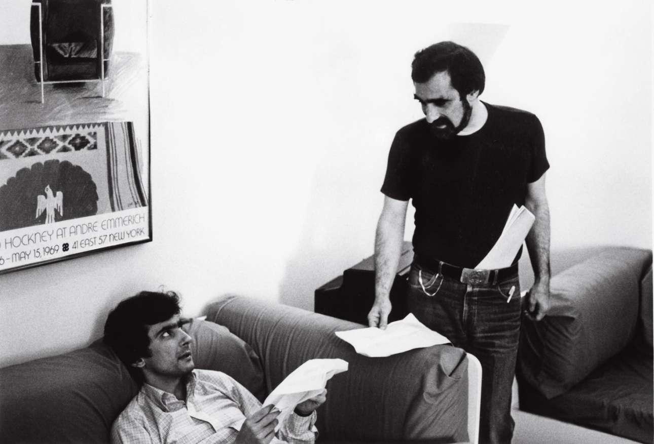 Με τον Γρίφιν Ντουν, στα γυρίσματα του «Μετά τα Μεσάνυχτα» (1986), ενός πολύ παρεξηγημένου και πολύ σημαντικού φιλμ