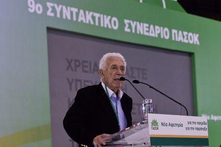 Ο Γιάννης Καψής μιλά στο Συνέδριο του ΠΑΣΟΚ , Σάββατο 2 Μαρτίου 2013.  Συνεχίζεται στο Στάδιο Ειρήνης και Φιλίας το 9ο συντακτικό συνέδριο του ΠΑΣΟΚ.  ΑΠΕ-ΜΠΕ/ΑΠΕ-ΜΠΕ/Φώτης Πλέγας Γ.