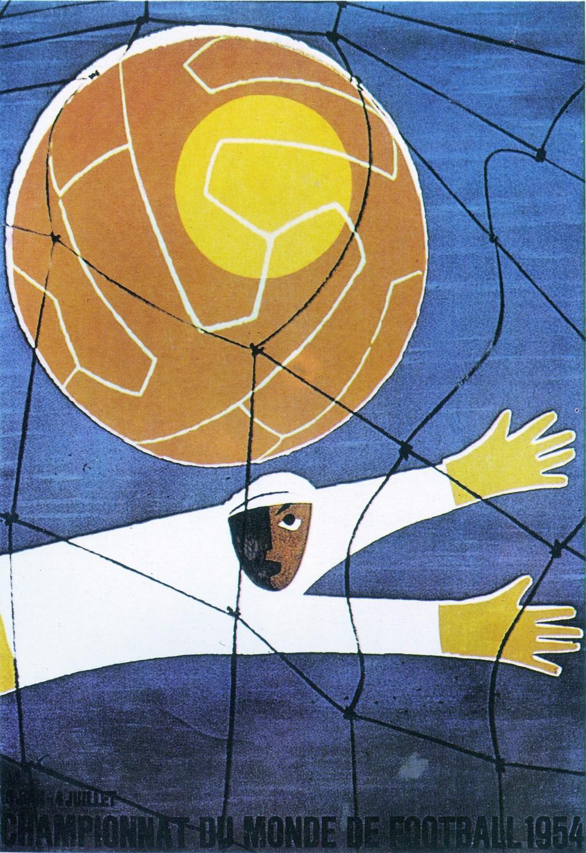 Ελβετία 1954. Αν αφαιρέσεις την μπάλα, το συγκεκριμένο σχέδιο θα μπορούσε να είχε γίνει από κάποιον μαθητή του Πικάσο