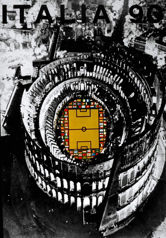 Ιταλία 1990. Ομορφο σχέδιο που αγάπησαν οι λάτρεις του ποδοσφαίρου. Αλλωστε δείχνει ότι το μόνο φωτεινό σημείο είναι το γήπεδο...