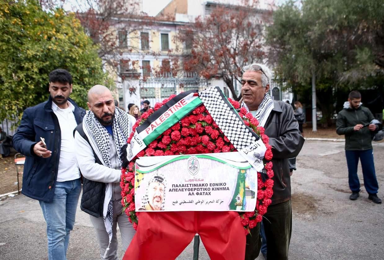Κατάθεση στεφάνου και από το Παλαιστινιακό Εθνικό Απελευθερωτικό Κίνημα