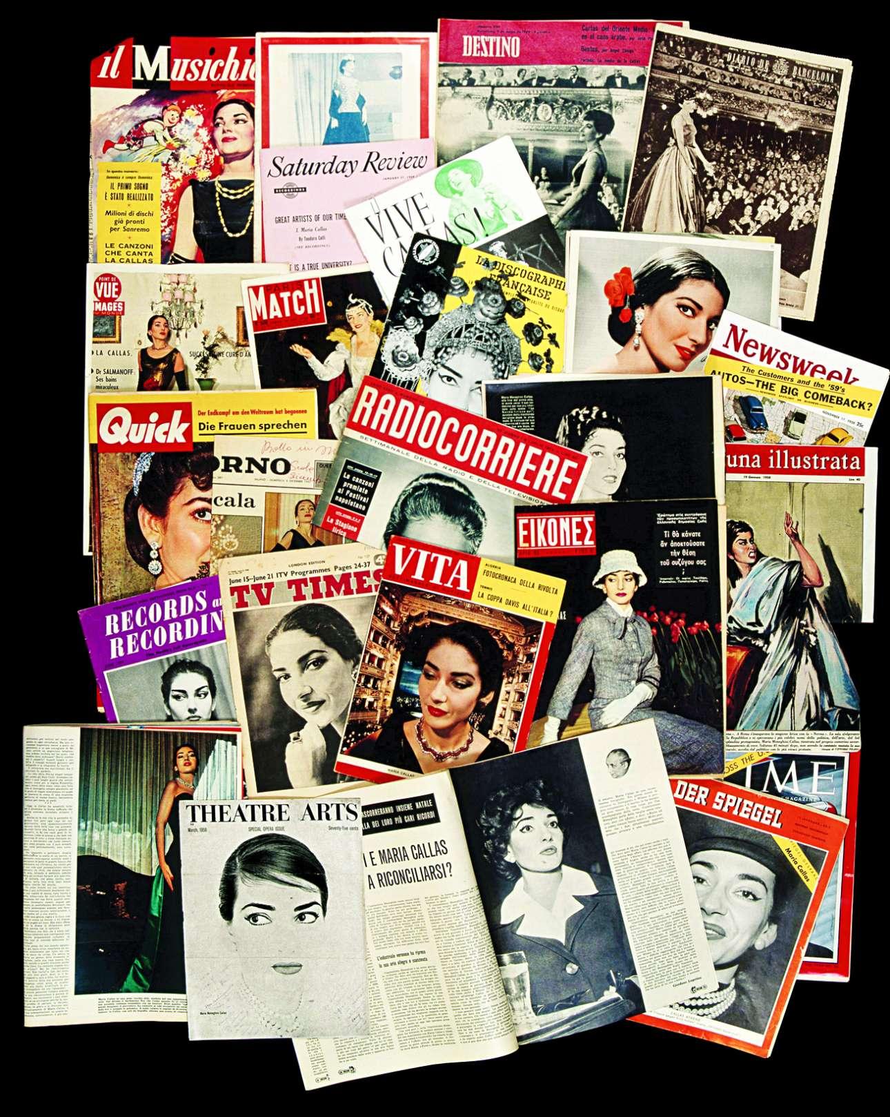 Εξώφυλλα περιοδικών με τη ντίβα της όπερας