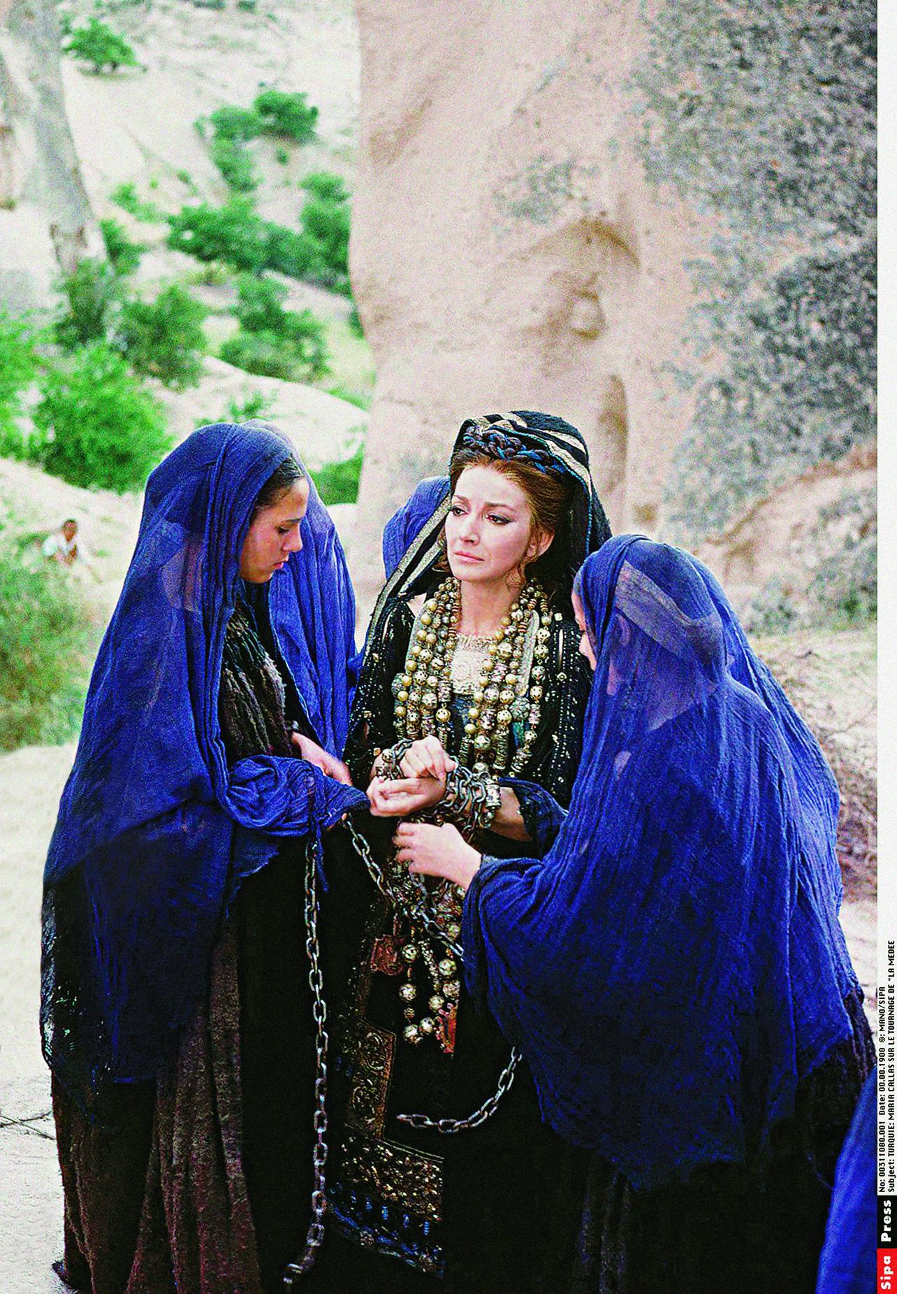 Στην Τουρκία για τα γυρίσματα της ταινίας του Παζολίνι «Μήδεια», 1969