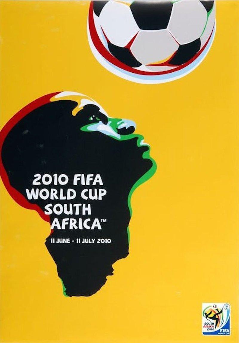 Νότια Αφρική, 2010. Για αρκετούς, το καλύτερο πόστερ Παγκοσμίων Κυπέλλων. Πάλι καλά που δεν υπήρχε και κάποια βουβουζέλα στο σχέδιο