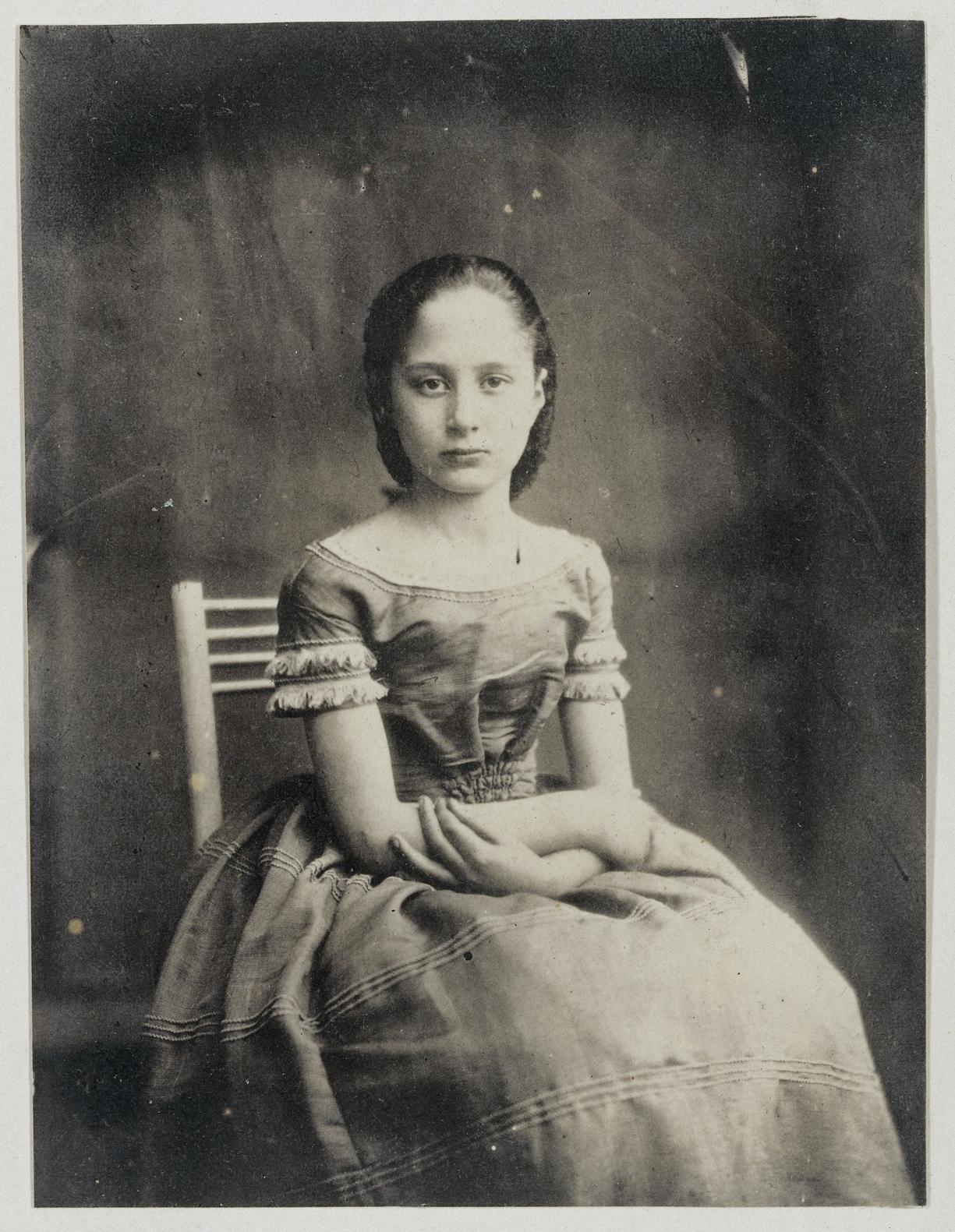 Πορτρέτο ένος άγνωστου κοριτσιού, τραβηγμένο στην Ολλανδία, γύρω στο 1855