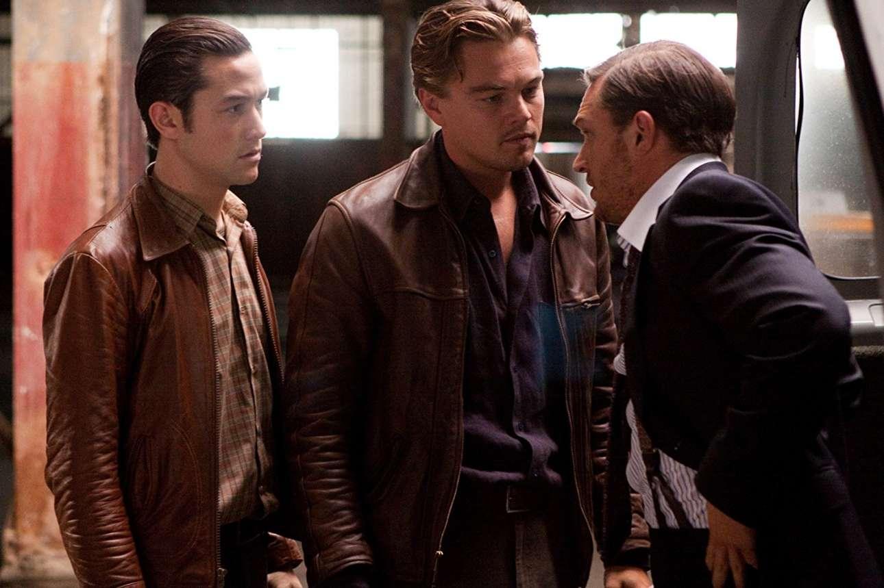 Με τους Τζόζεφ Γκόρντον-Λεβίτ και Τομ Χάρντι στο «Inception» (2010) του Κρίστοφερ Νόλαν