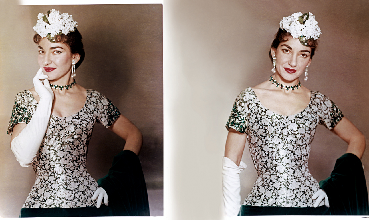 Στο σπίτι της στο Μιλάνο, το 1956