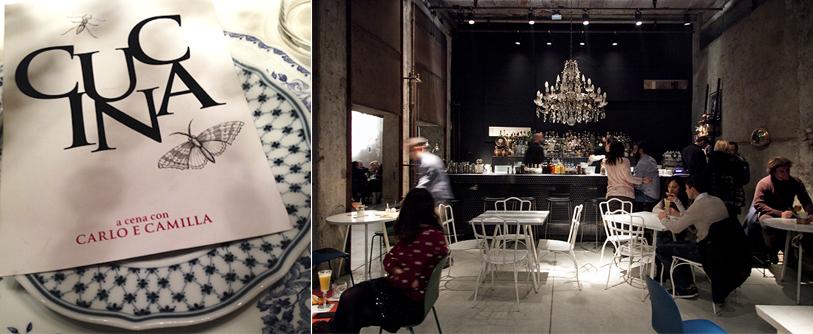 Ο καταλόγους και το εστιατόριο «Carlo e Camilla in Segheria» του Κάρλο Κράκο στο Μιλάνο