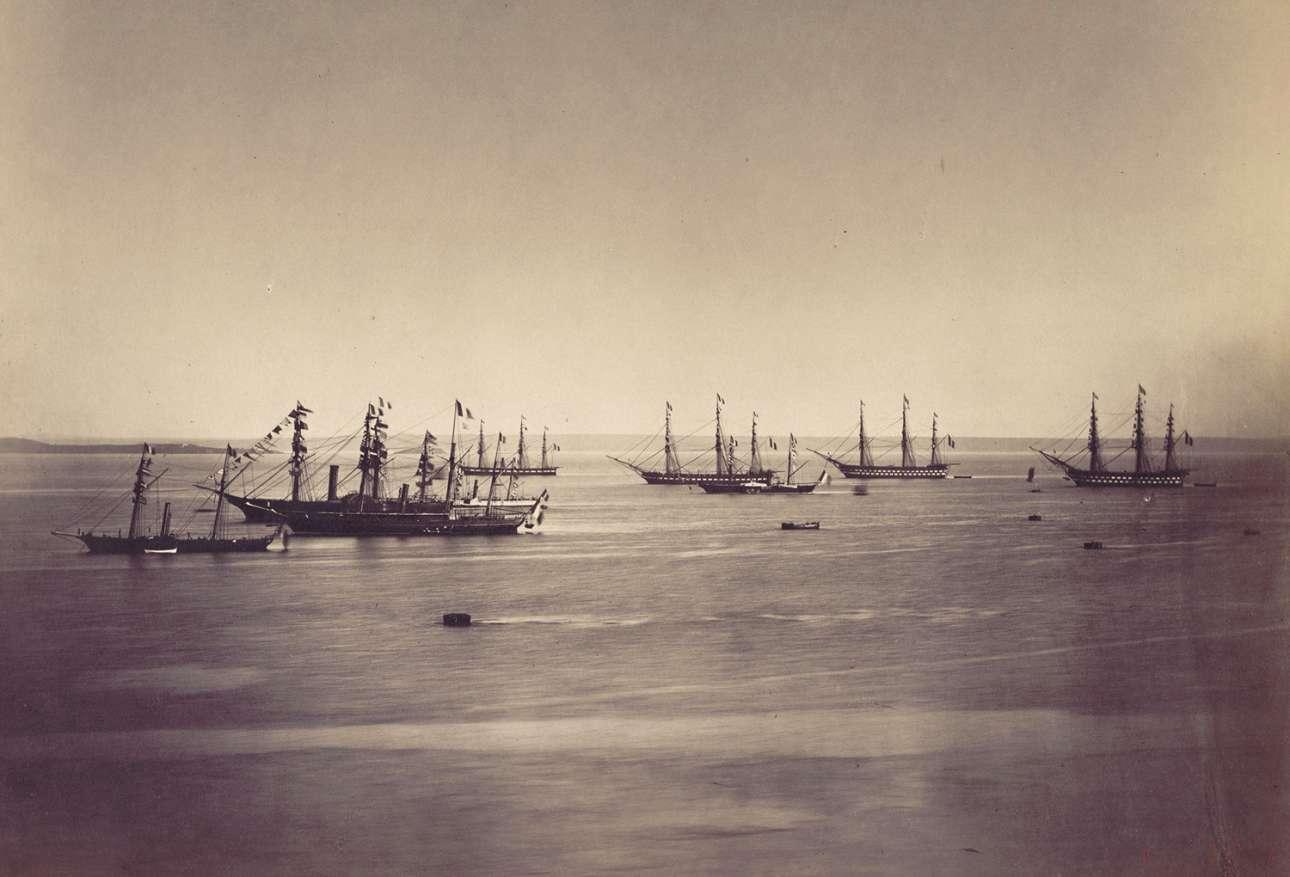 Ο γαλλο-αγγλικός στόλος στο Χερβούργο της Νορμανδίας, τον Αύγουστο του 1858
