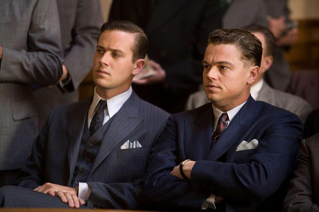 Με τον Αρμι Χάμερ στο «J. Edgar» (2011) του Κλιντ Ιστγουντ. Ο Ντι Κάπριο υποδύεται τον θρυλικό -και διαβόητο- επικεφαλής του FBI Τζέι Εντγκαρ Χούβερ