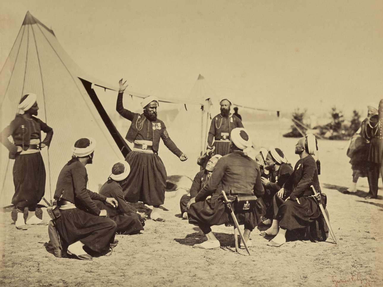 Φωτογραφία από άλμπουμ με τίτλο «Στρατιωτικές σκηνές από το στρατόπεδο Σαλόν του Ναπολέοντα Γ'»
