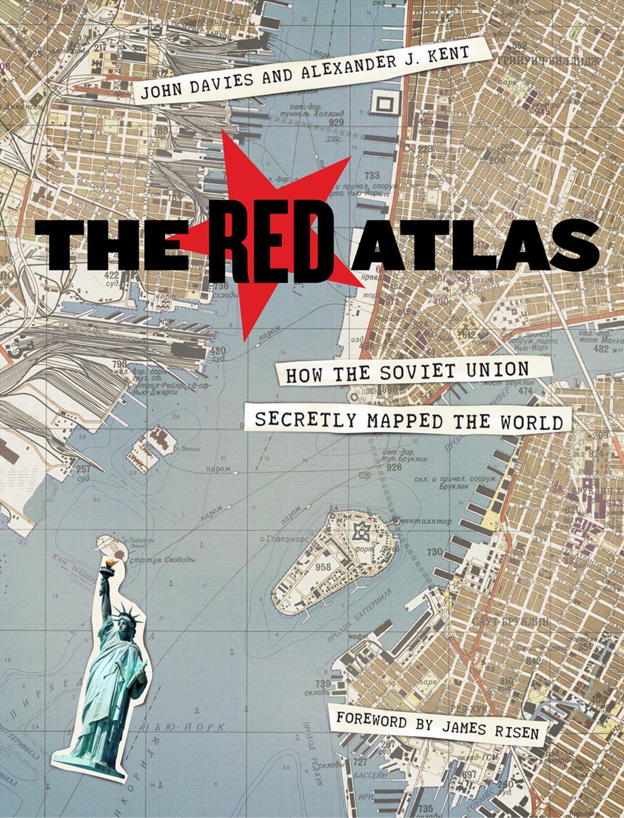 O Kόκκινος Ατλας των Σοβιετικών που είχαν χαρτογραφήσει λεπτομερώς πολλές πόλεις στον κόσμο