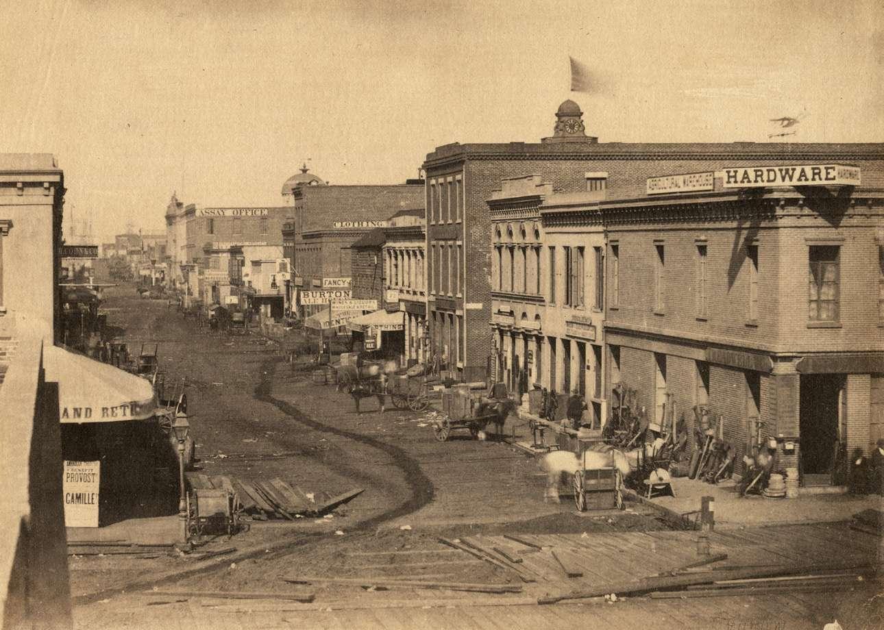 Η οδός Μπάτερι στο Σαν Φρανσίσκο της Καλιφόρνιας, το 1856