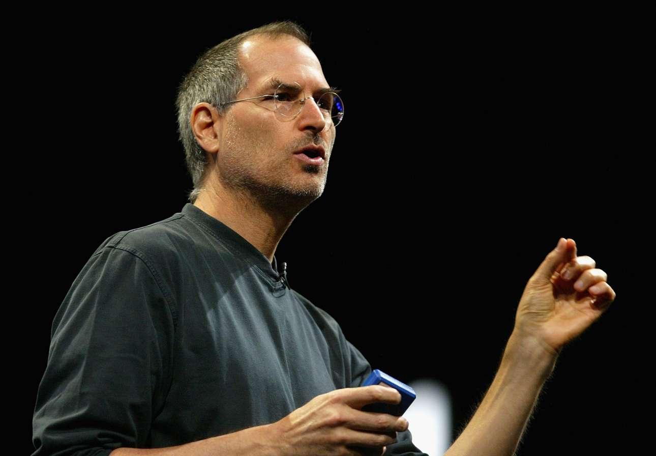 Ο Στιβ Τζομπς σε ομιλία του το 2005 φωτό: Justin SullivanGetty Images)
