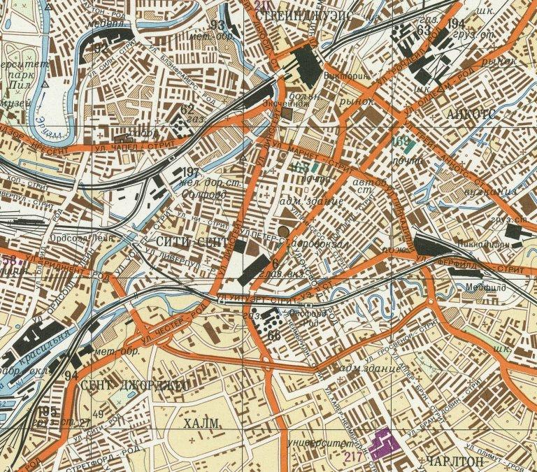 Ακόμη και τις γραμμές του τραμ στην πόλη του Μάντσεστερ είχαν χαρτογραφήσει λεπτομερώς οι Σοβιετικοί. Credit: John Davies/The Red Atlas: How the Soviet Union Secretly Mapped the World