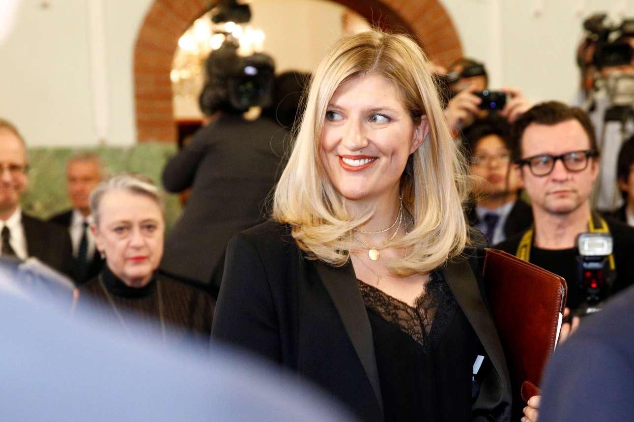 Η επικεφαλής της ICAN, της Διεθνούς Εκστρατείας για την Κατάργηση των Πυρηνικών, βραβευμένη με Νομπέλ Ειρήνης, Μπεατρίς Φιν