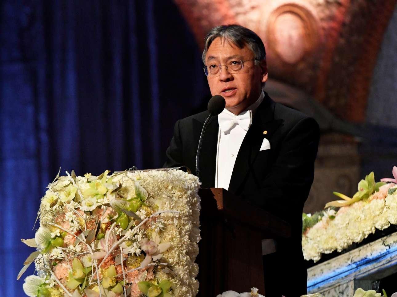 Ο Καζούο Ισιγκούρο στην ομιλία του για το Νομπέλ