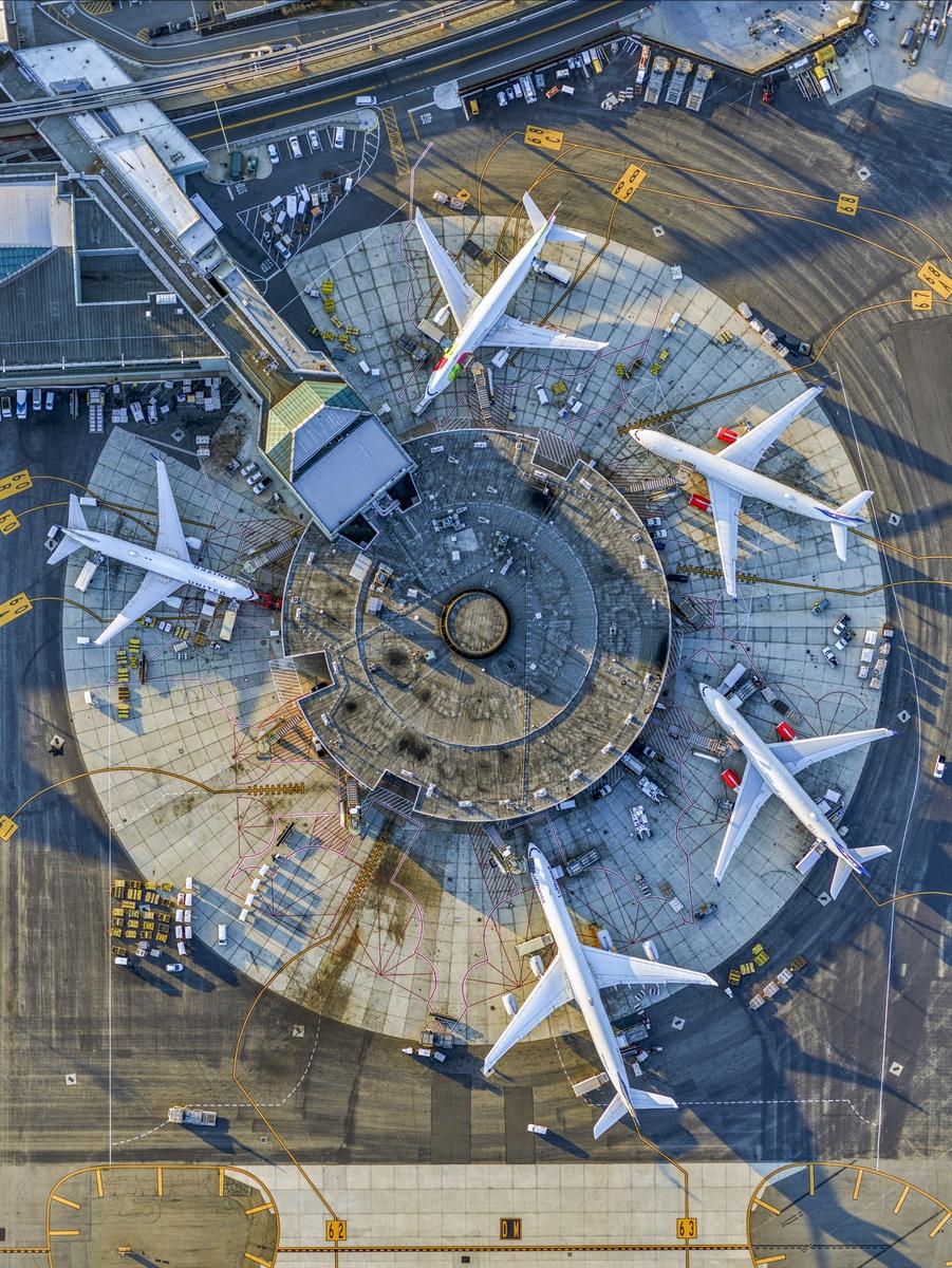 Ο τερματικός σταθμός 5 του αεροδρομίου Νιουάρκ της Νέας Υόρκης