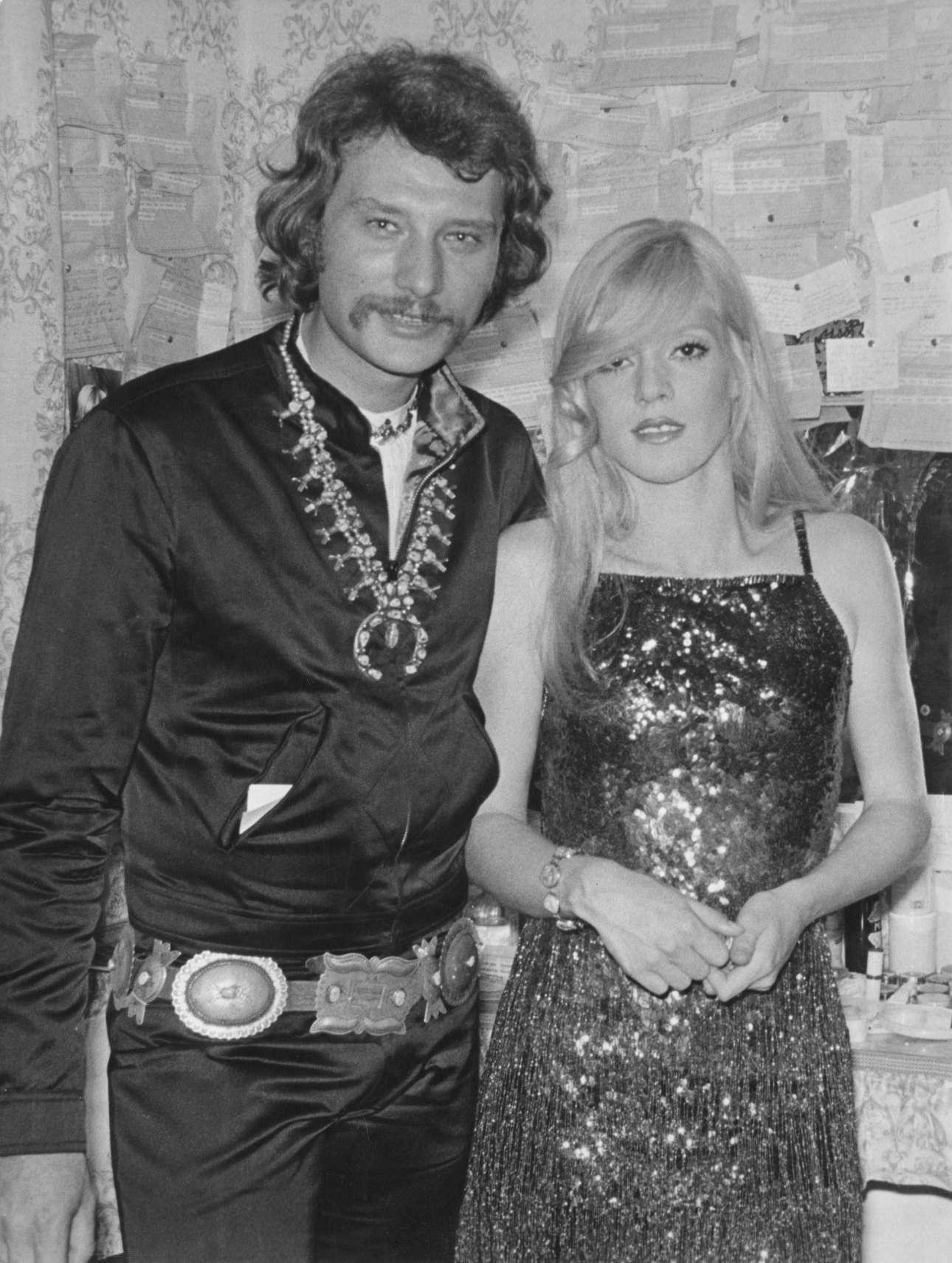 Σεπτέμβριος 1970, με τη Σιλβί Βαρτάν στο περίφημο «Olympia». Οι συναυλίες των δυο τους στον εμβληματικό αυτό συναυλιακό χώρο άφησαν εποχή