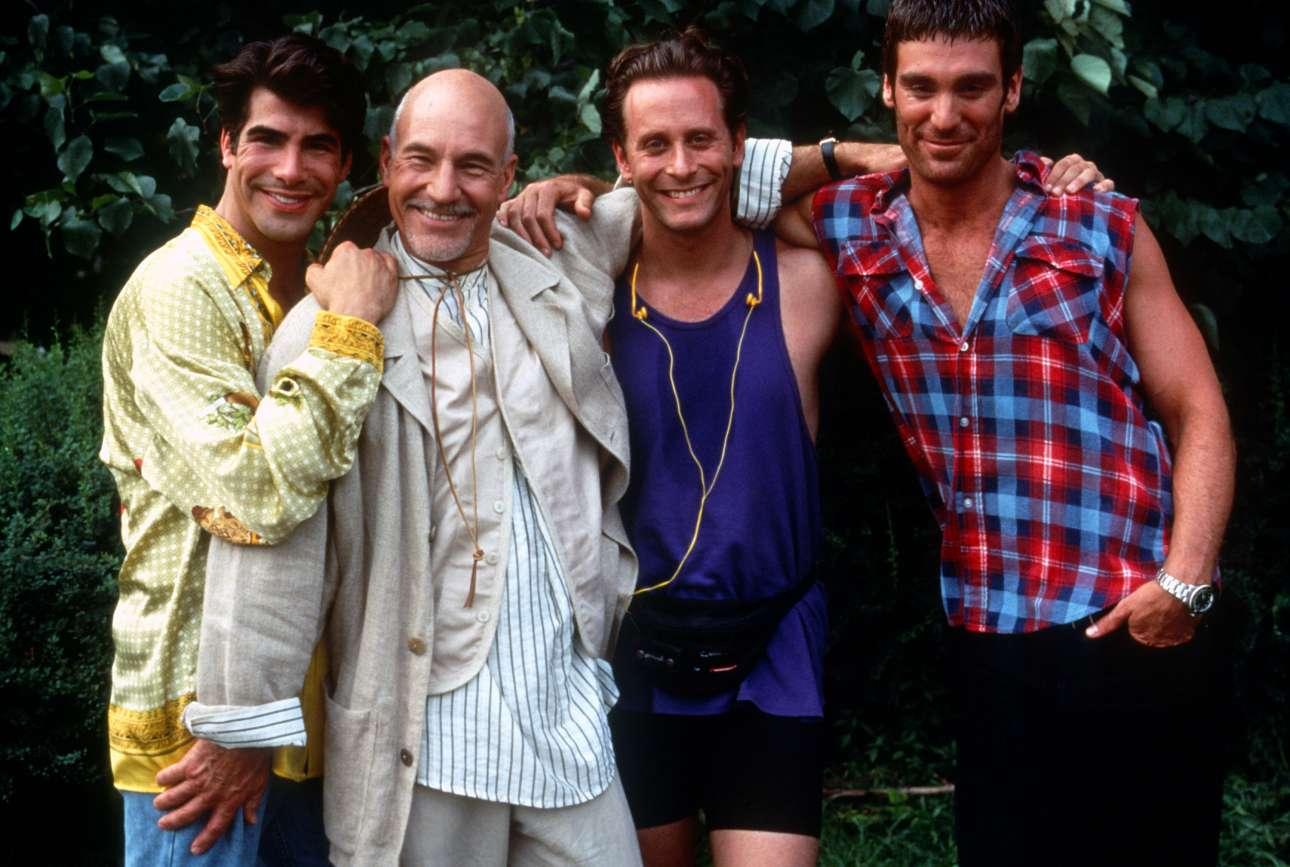 Μπράιαν Μπατ, Πάτρικ Στιούαρτ, Στίβεν Γουέμπερ και Μάικλ Τι Βάις στο «Jeffrey» (1995) του Κρίστοφερ Ασλεϊ. Μια ταινία για το να είσαι γκέι την εποχή του ξεσπάσματος του AIDS