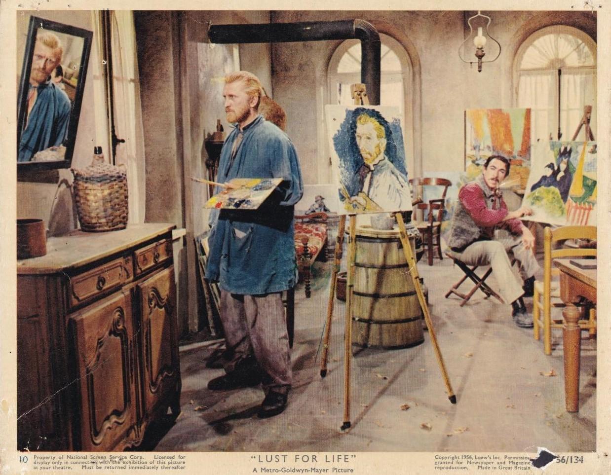 Ντάγκλας και Αντονι Κούιν ως οι δύο φίλοι και ζωγράφοι Βαν Γκογκ και Πολ Γκογκέν, στο «Lust for Life», 1956. Για την ερμηνεία ως τον ιδιοφυή και βασανισμένο καλλιτέχνη, ο Ντάγκλας βραβεύτηκε με Χρυσή Σφαίρα και ήταν υποψήφιος για Οσκαρ