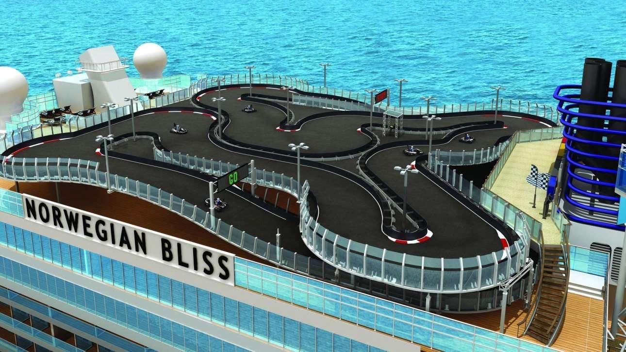 Το Norwegian Bliss θα διαθέτει εκτός των άλλων και μια πίστα go-Kart