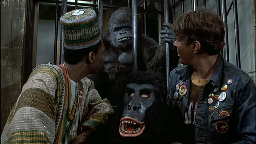 Δεν ήταν καλή ιδέα να έχεις ντυθεί γορίλας στο μασκέ πάρτι της παραμονής Πρωτοχρονιάς στο τρένο στο «Μια Πολυθρόνα για Δύο» του Τζον Λάντις (1983). Μια τρελή 31η Δεκεμβρίου που άνοιξε με το «Marry New Year!» του Εντι Μέρφι και κατέληξε με τον Νταν Ακροϊντ να παίρνει την εκδίκησή του