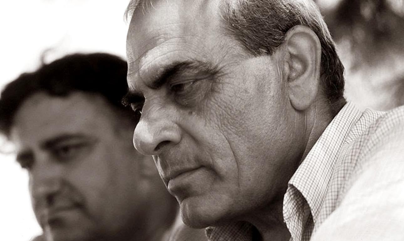 Ο Στέλιος Καζαντζίδης και ο Πάνος Γεραμάνης, δημοσιογράφος, παρουσιαστής μουσικών εκπομπών και μελετητής του λαϊκού τραγουδιού