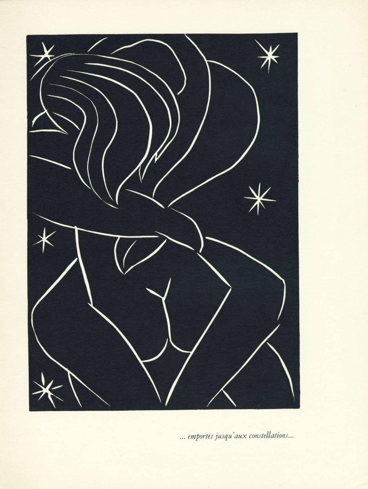 Henri Matisse, «Emportés jusqu'aux constellations», 1944. Ενα ζευγάρι ερωτοτροπεί ανάμεσα στα αστέρια, μία υπέροχη εικονογράφηση του σπουδαίου καλλιτέχνη Ανρί Ματίς