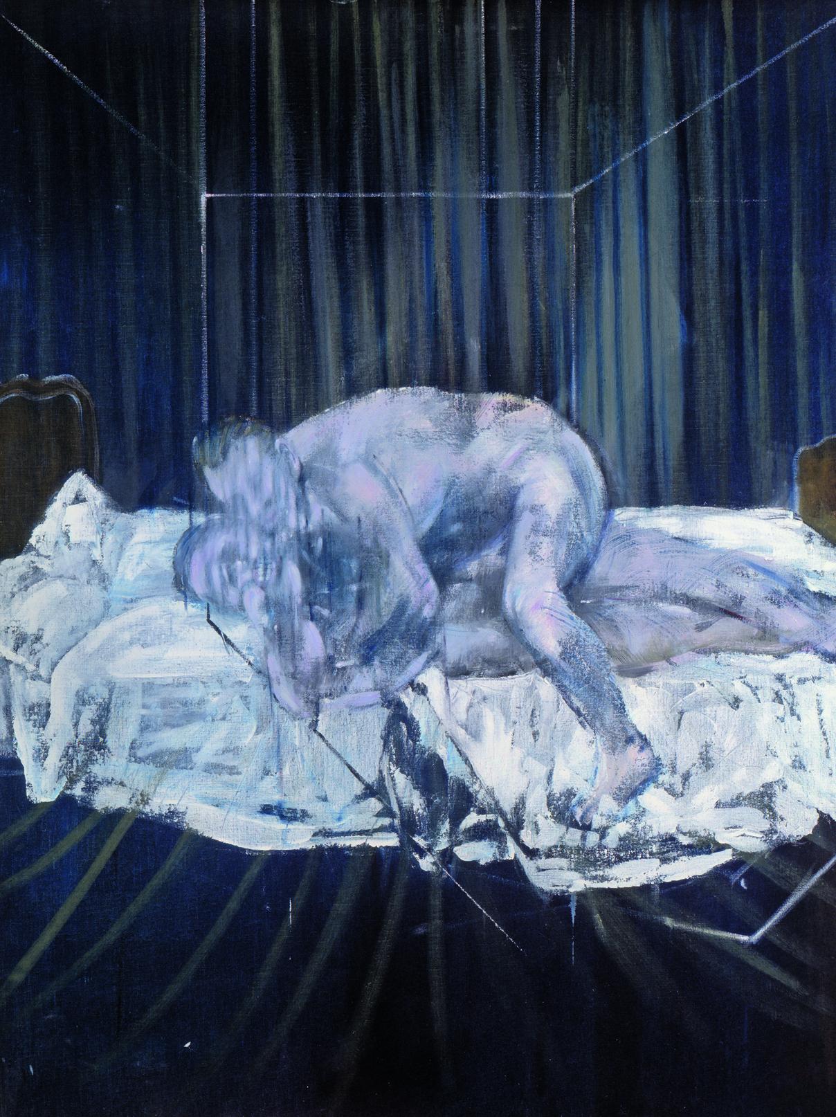 Francis Bacon, «Two Figures», 1953. Η αλληλεπίδραση μεταξύ σεξ και βίας προκαλεί μία παθιασμένη ατμόσφαιρα ανάμεσα στις δύο αρσενικές φιγούρες στο έργο του Φράνσις Μπέικον, το οποίο δημιούργησε όταν η ομοφυλοφιλία ήταν ακόμα πλήρως ποινικοποιημένη