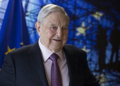 epa05930376 George Soros, founder and chairman of the Open Society Foundations prior to a meeting with EU commission President Jean-Claude Juncker (unseen) in Brussels, Belgium, 27 April  2017. The meeting will mainly focus on  the situation in Hungary, including legislative measures that could force the closure of the Central European University in Budapest.  EPA/OLIVIER HOSLET / POOL