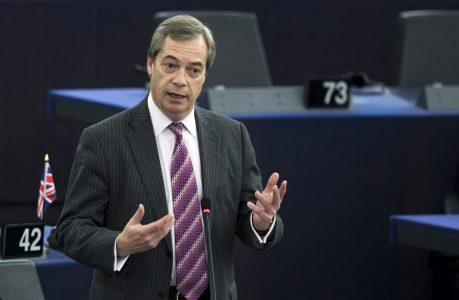 epa06386617 Nigel Farage, British Member of the European Parliament and former leader of the UK Independence Party (UKIP) speaks during a plenary session on the topic of Brexit in the European parliament in Strasbourg, France, 13 December 2017.  EPA/IAN LANGSDON