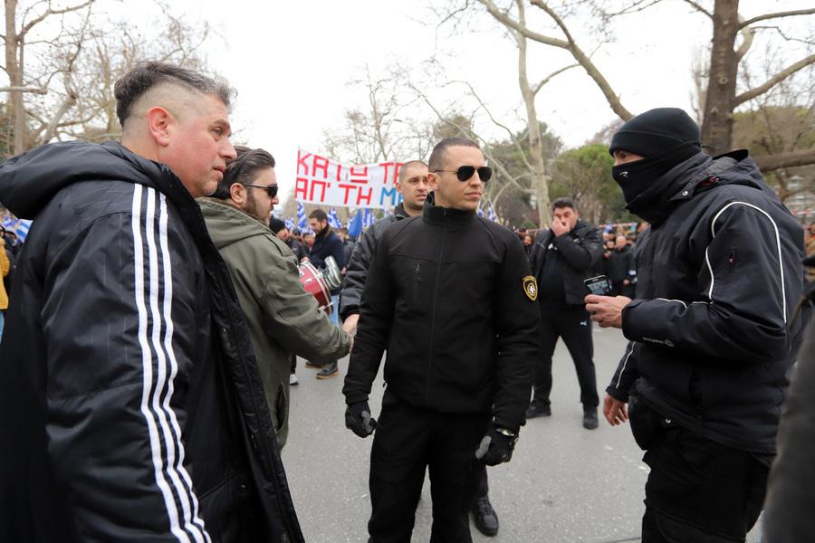 Ο Ηλίας Κασιδιάρης στη συλλαλητήριο - δεν ήταν ο μοναδικός χρυσαυγίτης βουλευτής