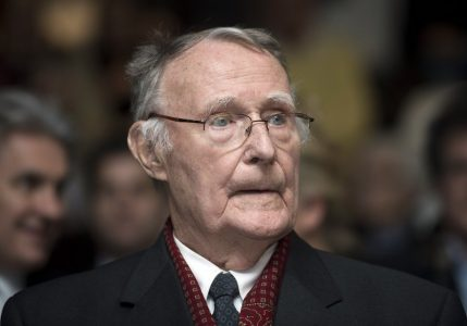 epa06480480 (FILE) - Ingvar Kamprad, Founder of IKEA, on the inauguration of the Margaretha Kamprad Chair of Environmental Science and Limnology of the Swiss Federal Institute of Technology of Lausanne (EPFL), in Lausanne, Switzerland, 03 December 2012 (reissued 28 Janaury 2018). Ingvar Kamprad has died at 91, the company announces on Sunday.  EPA/JEAN-CHRISTOPHE BOTT