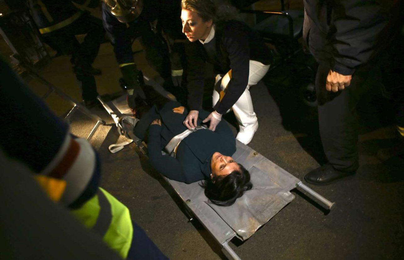 Στην άσκηση ο «τραυματίας» μπορεί να γελάσει..