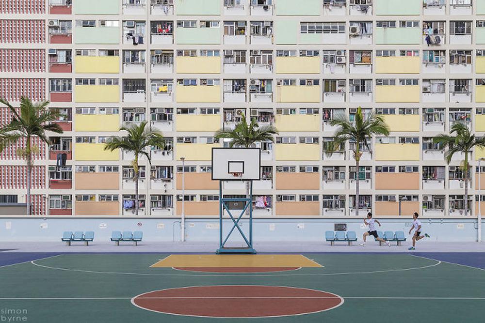 Εργατικές κατοικίες στα χρώματα του ουράνιου τόξου, στο Χονγκ Κονγκ