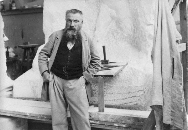 Ο Ροντέν στο στούντιό του, το 1898