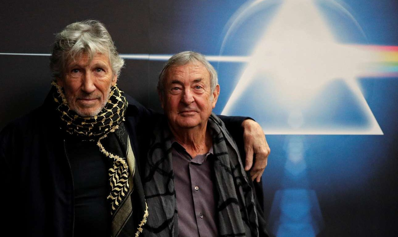 Band members Roger Waters (L) and Nick Mason pose before the unveiling of The Pink Floyd Exhibition Their Mortal Remains at the Macro Museum in Rome, Italy January 16, 2018. REUTERSMax Rossi