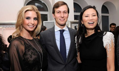 Entrepreneur and socialite Ivanka Trump, businessman Jared Kushner and Wendi Murdoch attend the Ivanka Trump Fine Jewelry Collection Launch Benefitting The United Nations Foundation at Trump Park Avenue on March 1, 2010 in New York City. (Photo by