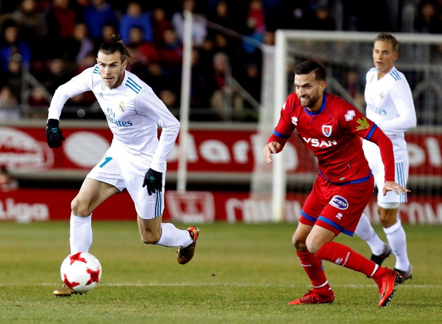 Ο Ουαλός Γκάρεθ Μπέιλ της Ρεάλ Μαδρίτης είναι ο ταχύτερος ποδοσφαιριστής στον κόσμο με την μπάλα στα πόδια (EPA/Javier Belver)