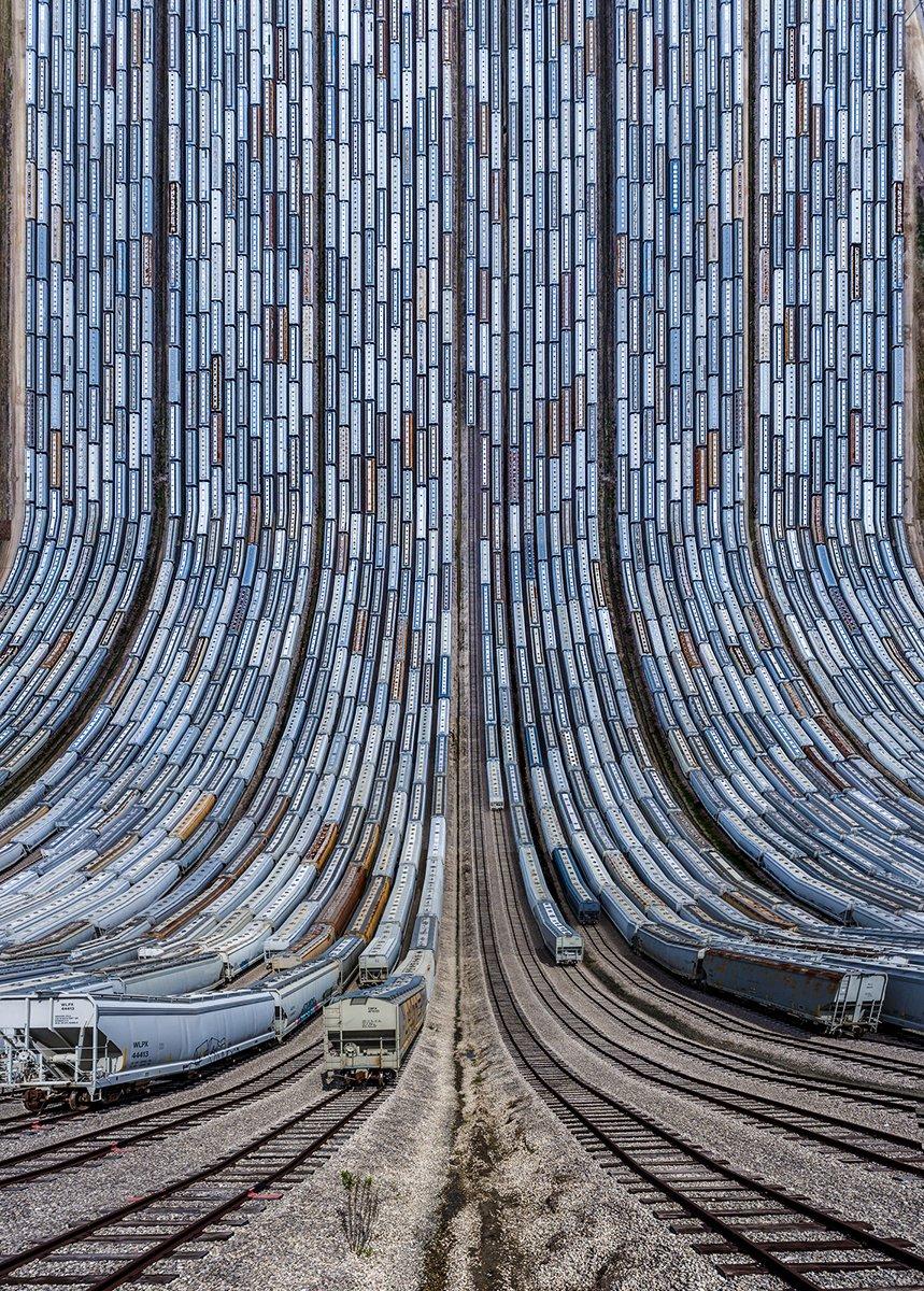 Και μία εντυπωσιακή άποψη ενός σιδηροδρομικού σταθμού στις ΗΠΑ
