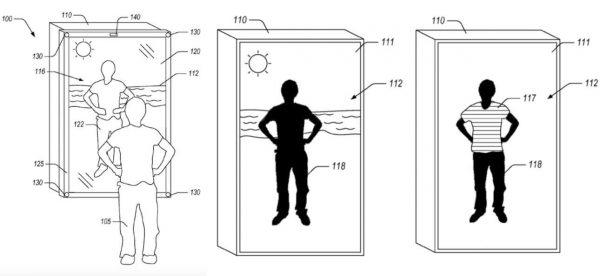 Το σχέδιο του μαγικού καθρέφτη που θέλει να κατασκευάσει η Amazon, το οποίο περιλαμβάνεται στην αίτηση ευρεσιτεχνίας που κατέθεσε η εταιρεία
